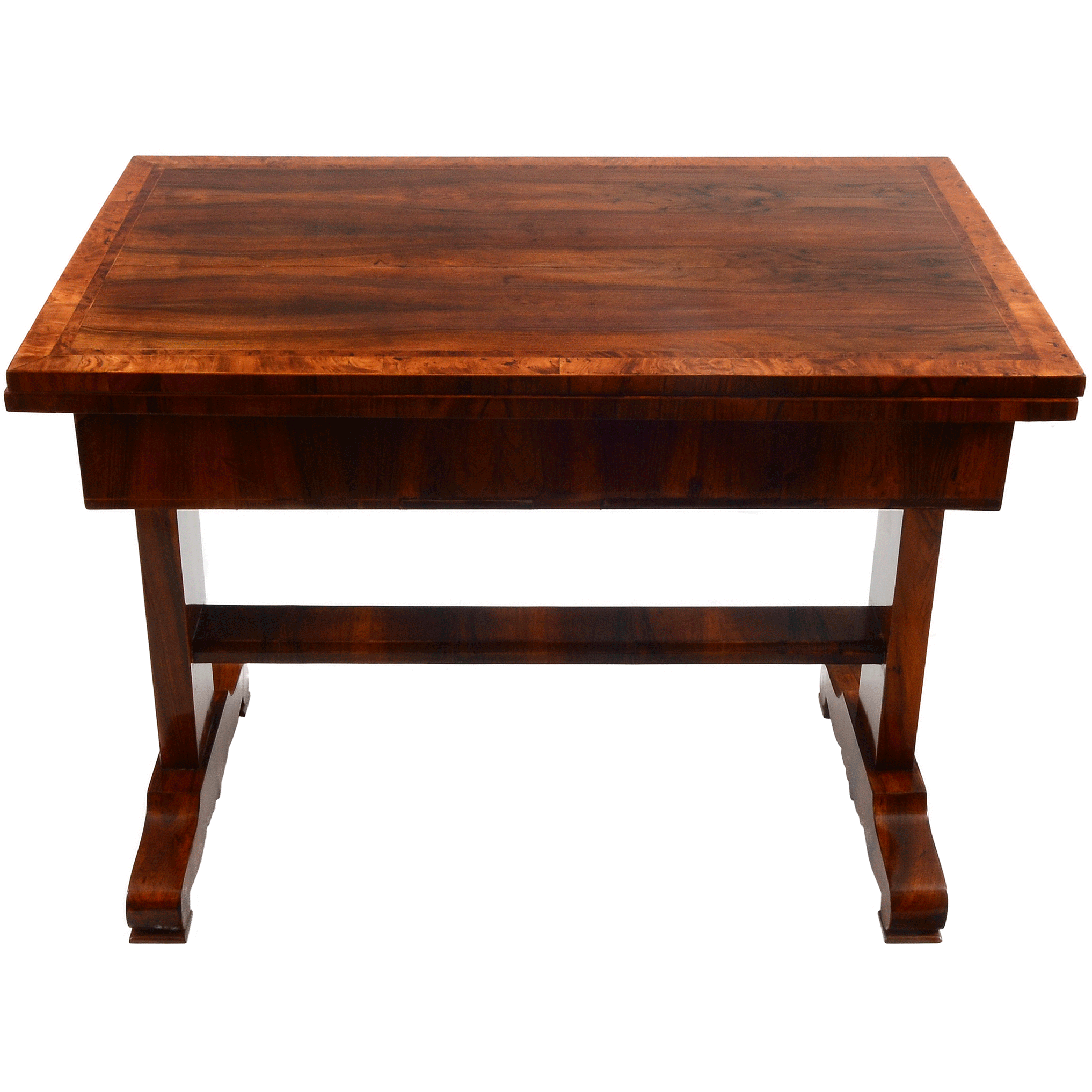 European Biedermeier Square Flip Top Dining Table