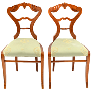 European Biedermeier Side Chairs Attributed to Josef Ulrich Danhauser