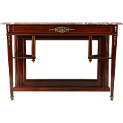 European Carved Mahogany Console Table