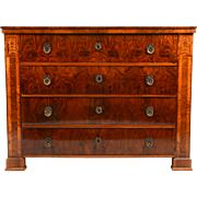 Biedermeier Burl Wood Chest