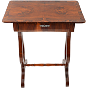 European Biedermeier Mahogany Side Table