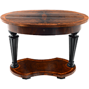 European Biedermeier Oval Side Table Attributed to Josef Ulrich Danhauser