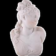 Rafaello Battelli White Marble Bust