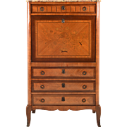 French Mahogany Drop Front Desk and Bureau