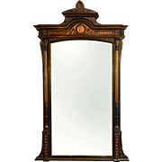Victorian Ebonized Pier Mirror