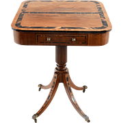 Regency Inlaid Fruitwood Side Table