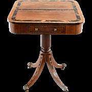 Regency Inlaid Fruitwood Side Table