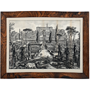 Lithograph Veduta della Villa Estense in Tivoli by Giovanni Battista Piranesi