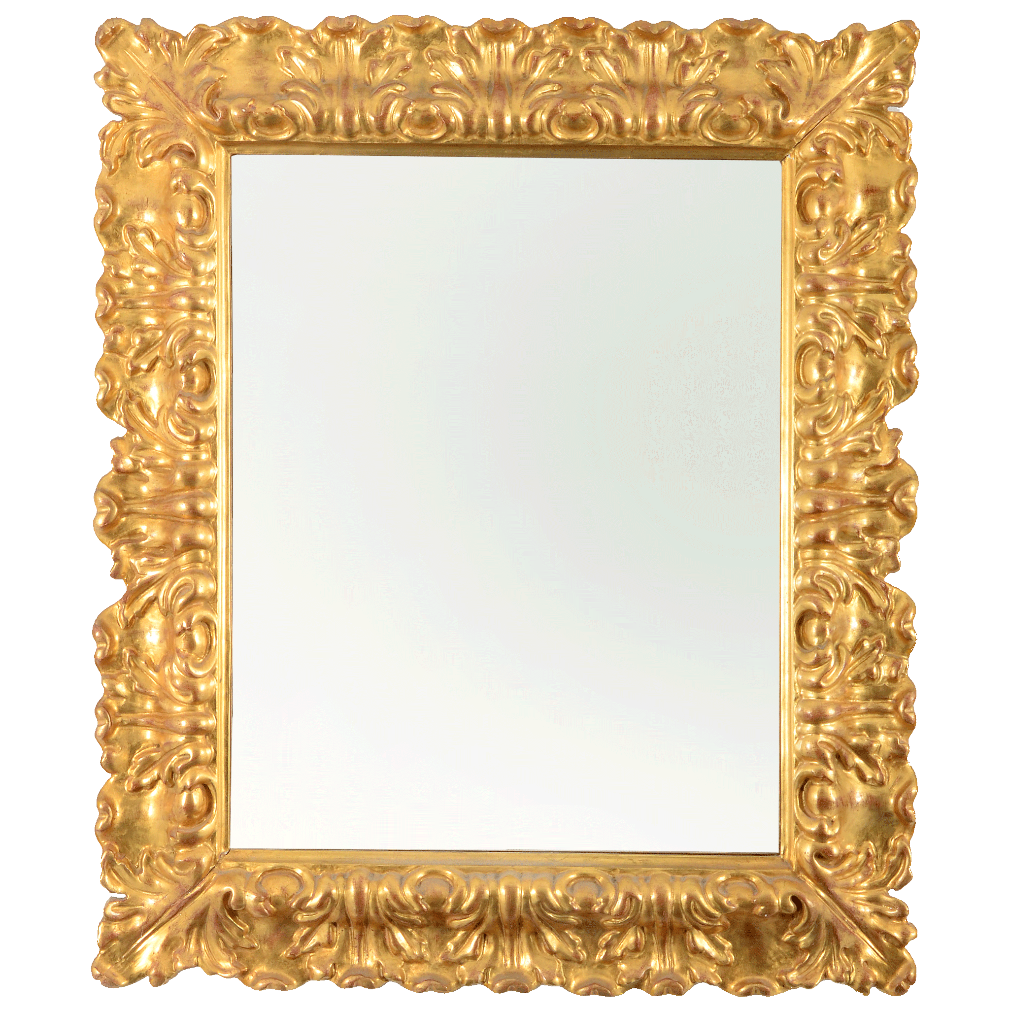 Italian Large Wall Mirror with Gesso Frame