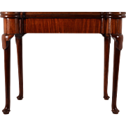 American Chippendale Style Mahogany Game Table