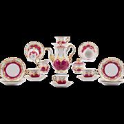 German Porcelain Tea Service by Meissen