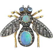 9K Gold Jeweled Bee Pin