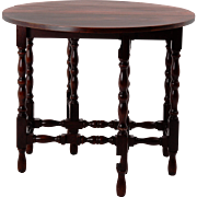 American Mahogany Drop Leaf Gate Leg Table