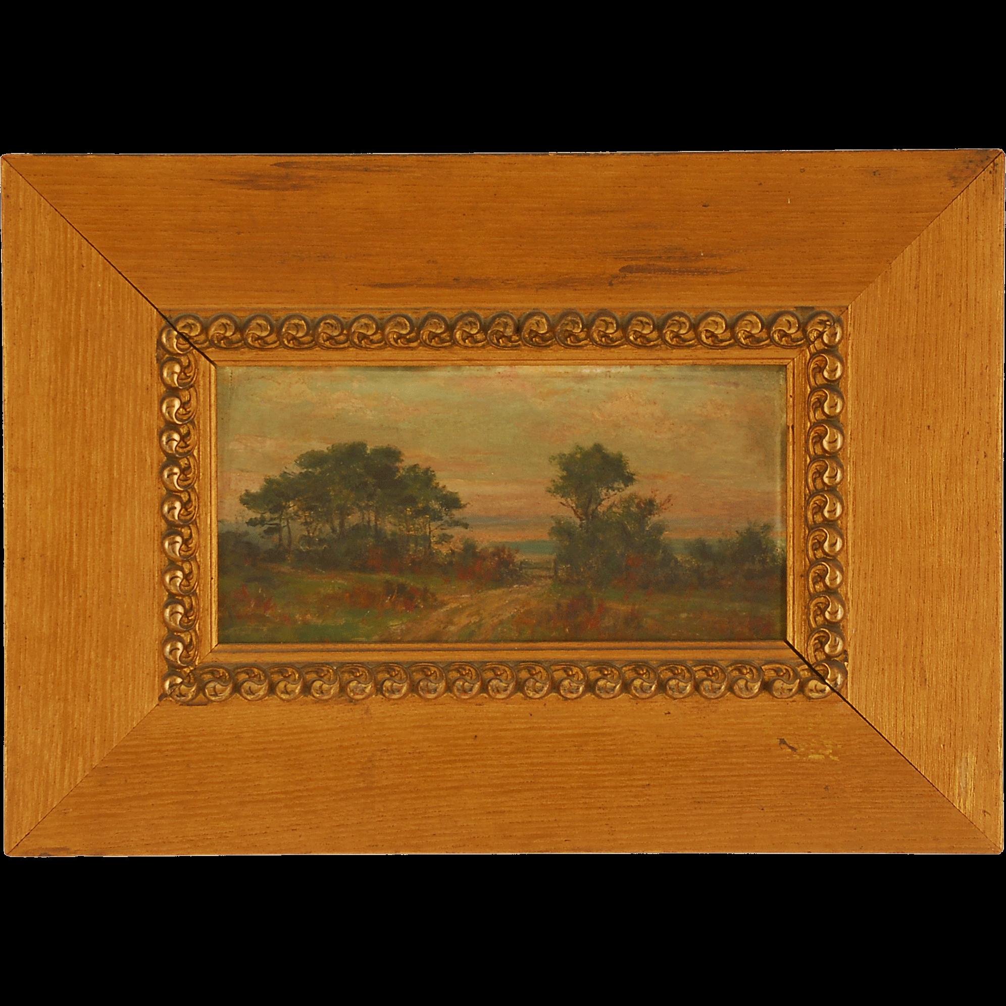 Landscape by Hiram Reynolds Bloomer Oil on Board