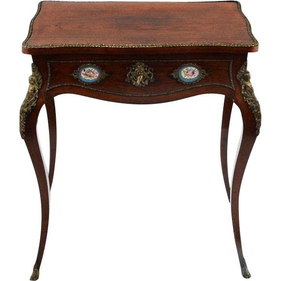 French Louis XV Style Vanity with Sevres Plaques