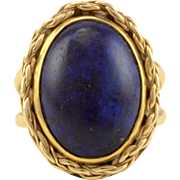 Oval Lapis Lazuli Ring