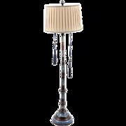Metal Floor Lamp with Cloisonné Designs