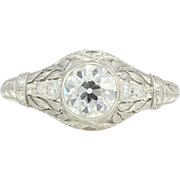 Platinum 1.10 Carat VVS2 Diamond Ring