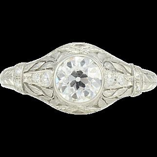 Platinum 1.10 Carat VVS2 Diamond Ring
