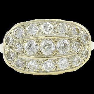 White Gold 1.29 Carat Total Weight Diamond Ring