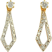 Diamond Kite Shape Convertible Earrings