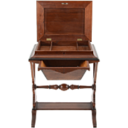 American Renaissance Revival Walnut Sewing Table