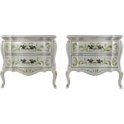 American Pair of Painted Commodes by John Widdicomb