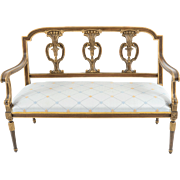 Walnut Louis XVI Style Settee