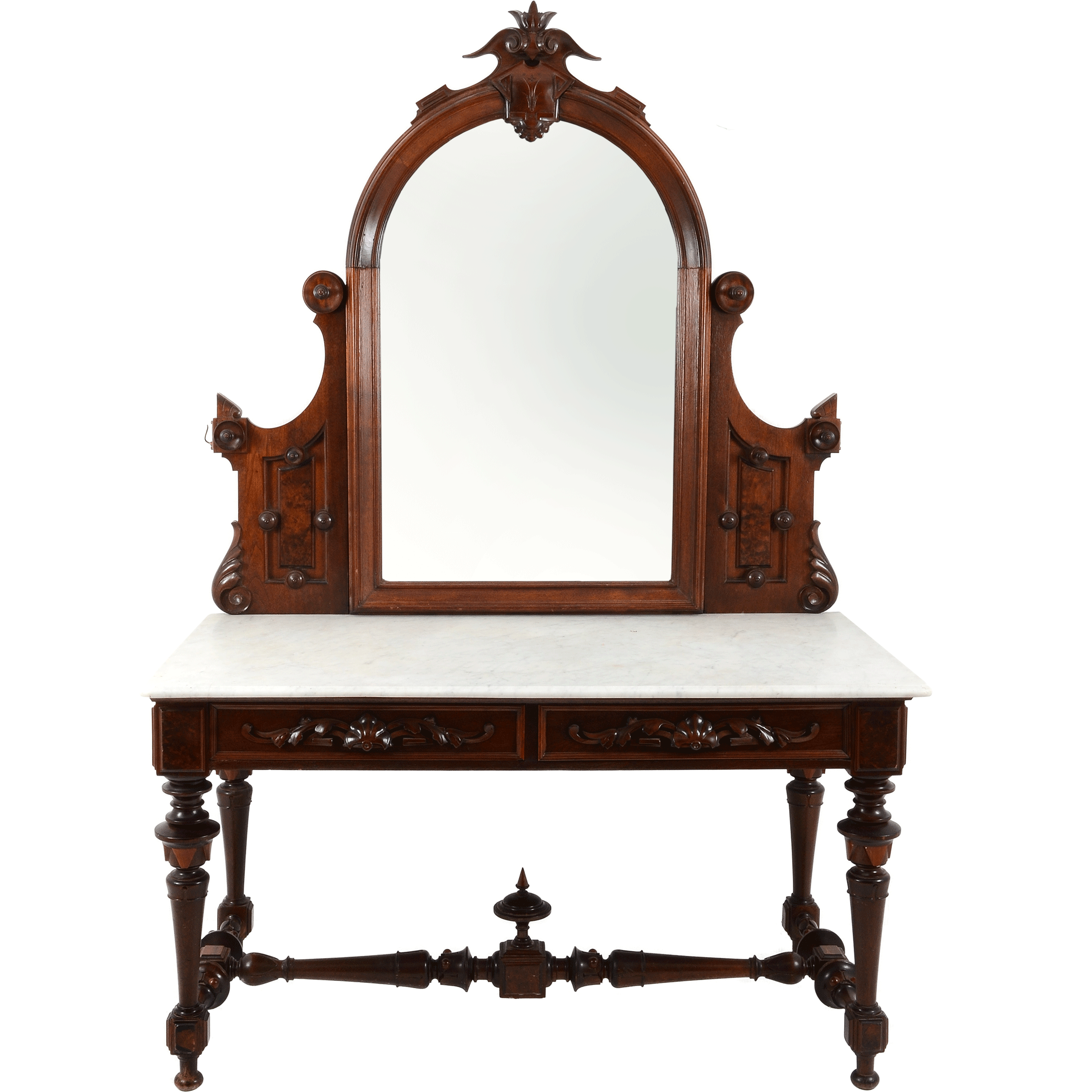 European Renaissance Revival Style Console and Mirror