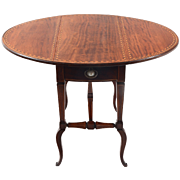 American Inlaid Mahogany Drop Leaf Table