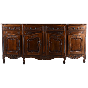 American French Style Carved Walnut Sideboard