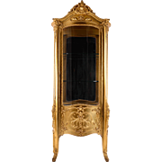 French Gilt Wood Vitrine