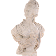 Antique Carved Marble Bust