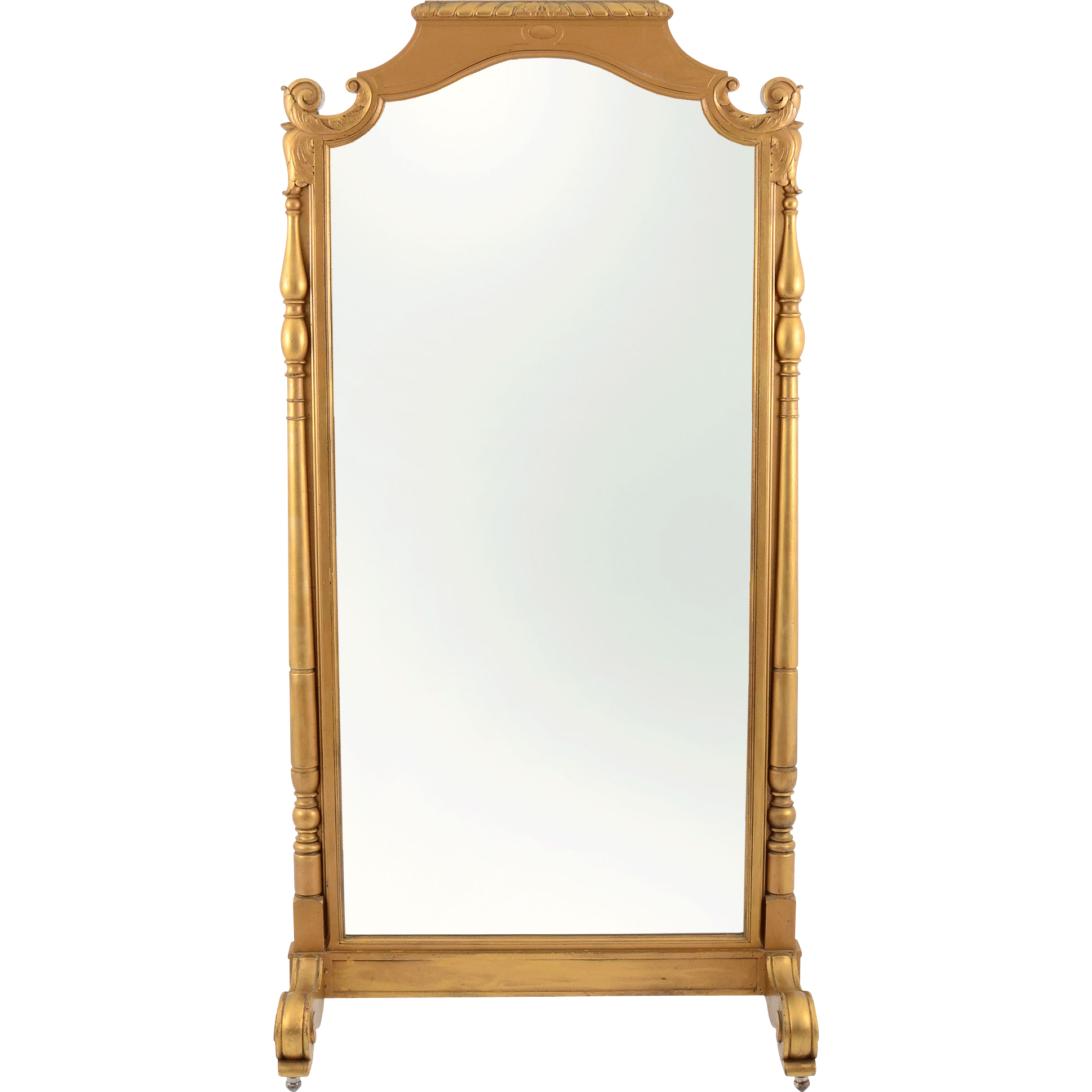 French gilt double sided floor mirror from solvangantiques for Floor mirror