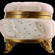 CF Monroe Hand-Painted Wavecrest Floral Design Dresser Box