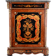 French Empire Style Marble Top Mahogany Chest