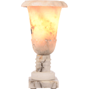 Vase Shaped Onyx Table Lamp