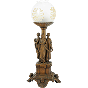Figural Bronze Electric Lamp