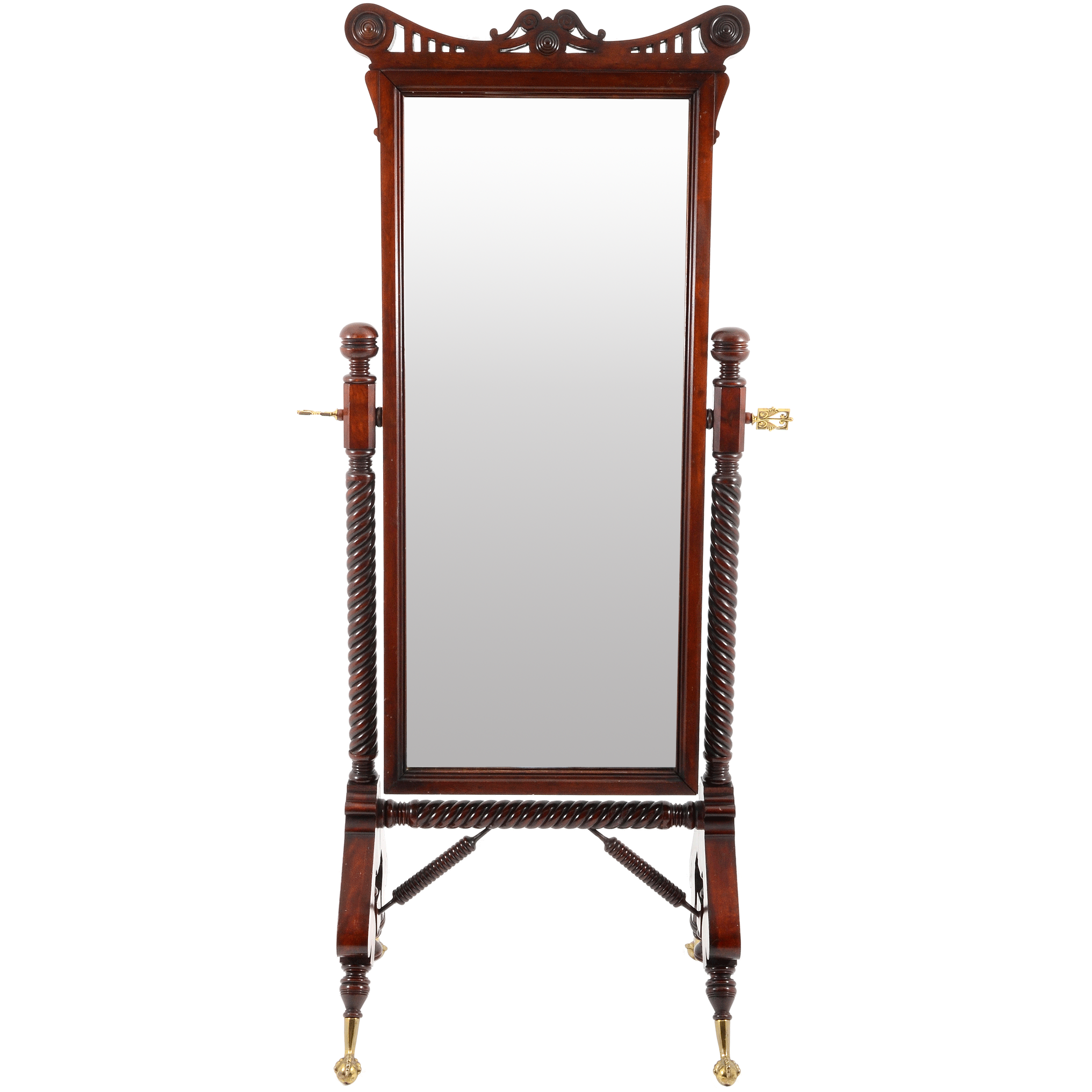 Victorian Cherry Wood Cheval Mirror