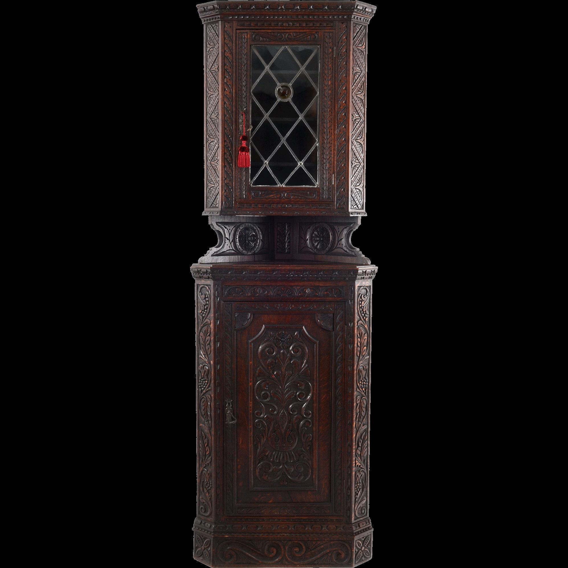 Gothic Revival Corner Cabinet