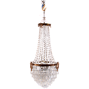 American Cascading Crystal Chandelier