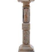 Italian Pale Green Onyx Pedestal