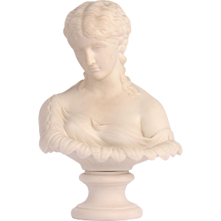 English Bisque Bust Water Nymph
