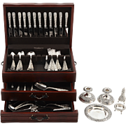 American 121 Piece Sterling Flatware Set by S Kirk & Sons