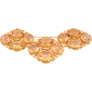 Victorian Filigree Brooch with 43 CTW Topaz