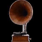 Oak Cygnet Horn Cylinder Phonograph by Edison