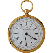 18 Karat Engraved Gold Pocket Watch by Harris Bernstein, Manchester
