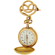 Ladies Pendant Watch with Deco Pin by Champ de Roses