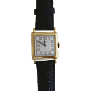 18 Karat Gold Art Deco Wrist Watch by J.E. Caldwell
