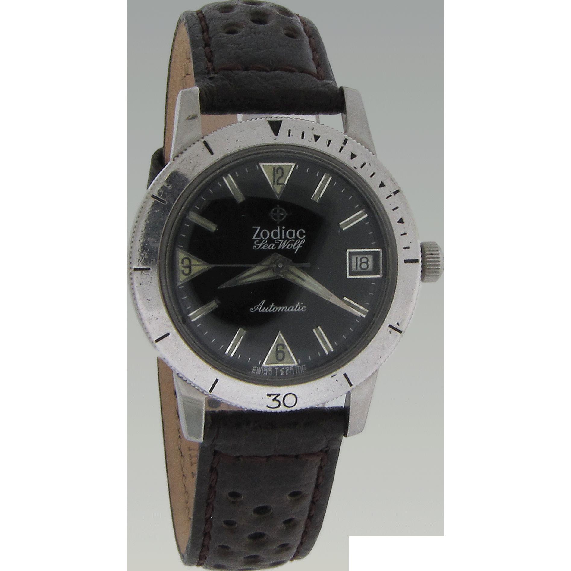 Mens Zodiak Seawolf Model Wrist Watch